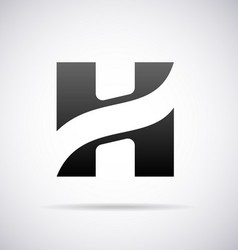 Logo for letter H vector