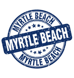Myrtle beach stamp vector