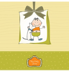 new baby announcement card vector image