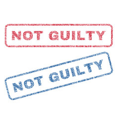 Not guilty textile stamps vector