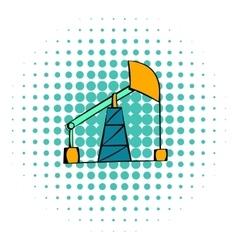 Oil pump icon comics style vector image