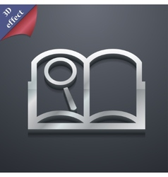 Open book icon symbol 3D style Trendy modern vector image