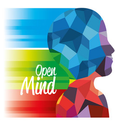 Open mind sign vector