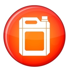 Plastic jerry can icon flat style vector