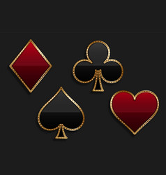 playing card suit symbol in shiny luxury style vector image