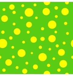 Polka dot yellow seamless pattern vector image