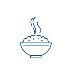 Porridge line icon concept porridge flat vector