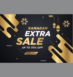 Ramadan kareem sales banner template vector