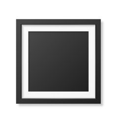 Realistic square black frame vector image
