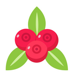 red currant flat icon fruit and diet vector image