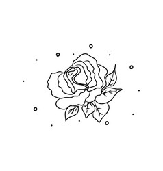 rose flower hand drawing coloring book modern vector image