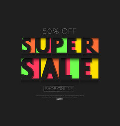 sale banner template design paper cut vector image