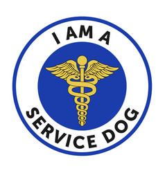 service dog badge sticker vector image