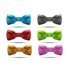 Set of colorful abstract fashion bow tie in vector image