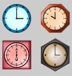 Set of four clocks vector