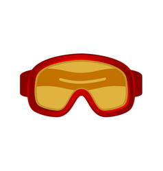 Ski sport goggles in red design vector
