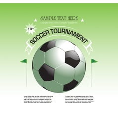 Soccer tournament invitation poster vector