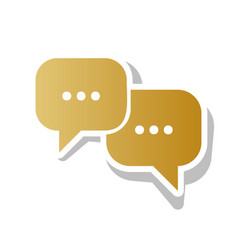 Speech bubbles sign golden gradient icon vector