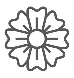 spring flower line icon floral and plant blossom vector image