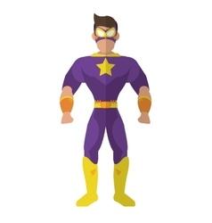 superhero avatar superman comic design vector image