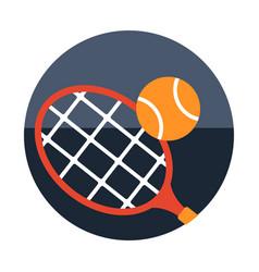 Tennis flat vector