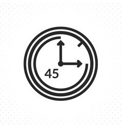 the symbol of forty five minutes vector image