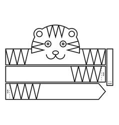 Tiger coloring headband vector