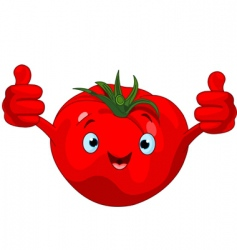 tomato character giving thumbs up vector image