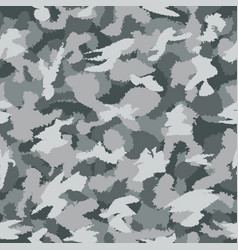 War grey urban camouflage seamless pattern can vector