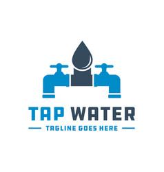 water tap logo vector image