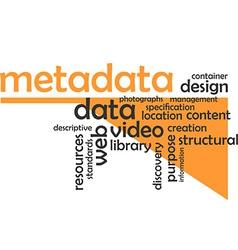 Word cloud metadata vector