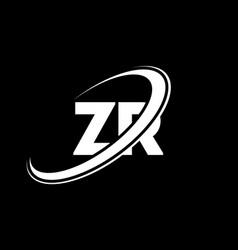 zr z r letter logo design initial letter zr vector image