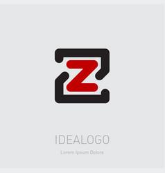 zz - design element or icon initial monogram vector image