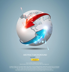 globe concept vector image