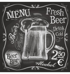 pub logo design template beer mug or menu vector image