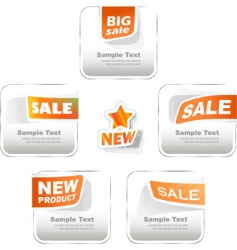 set of sale labels vector image vector image