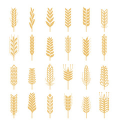 agricultural icons set nature pictures of vector image