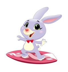 Bunny rabbit with surf vector image vector image