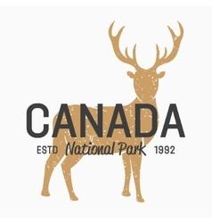 deer logo design elements vector image