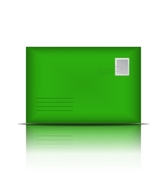 Green envelope isolated on white background vector image vector image