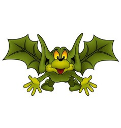 Green Flying Bat vector image