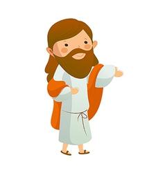 Jesus Christ standing vector image vector image