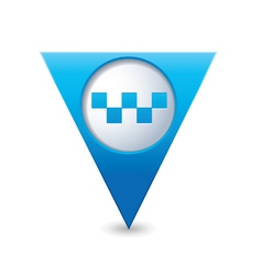 taxi icon map pointer blue vector image