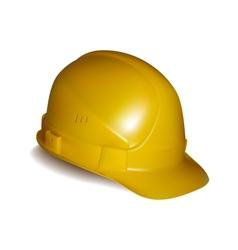 Yellow safety helmet vector image