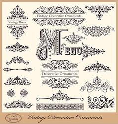 Elegant Victorian Letterhead flourishes vector image