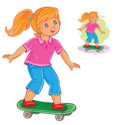 girl skateboarding vector image