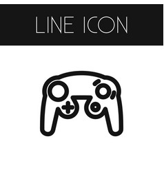 isolated controller outline gaming element vector image vector image
