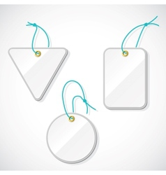 Set of plastic tags on the rope vector image