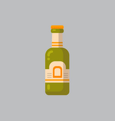 beer bottle icon oktoberfest festival concept vector image