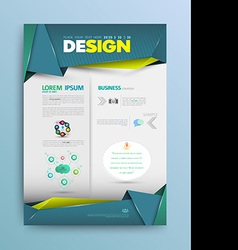Business background template vector image